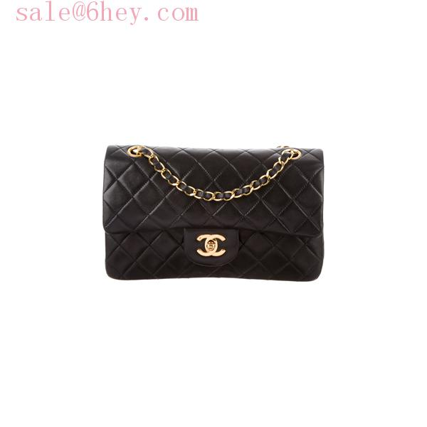 chanel classic flap bag gold
