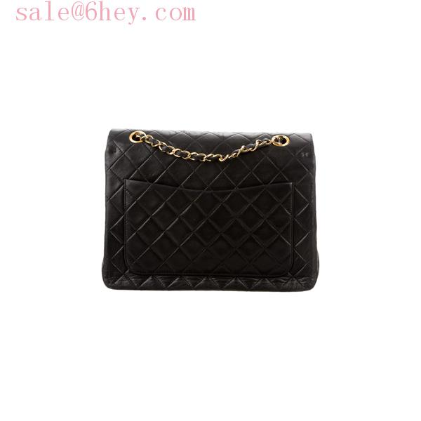 chanel mini square black caviar