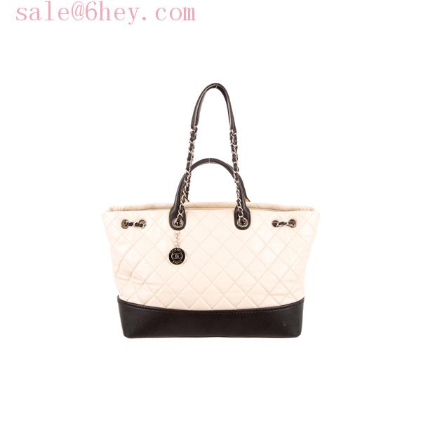 chanel patent leather tote bag